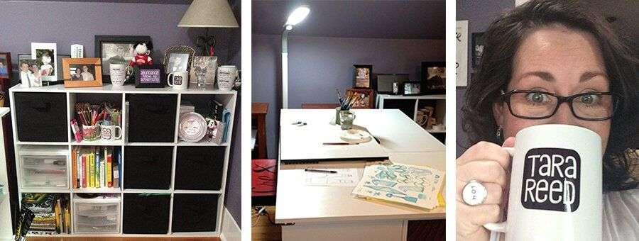 photos of Tara Reed Designs' studio