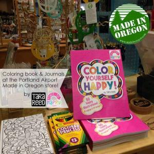 Coloring books at Made in Oregon