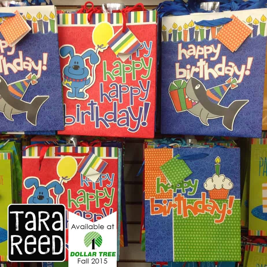 Gift bags at the dollar tree tara reed designs art