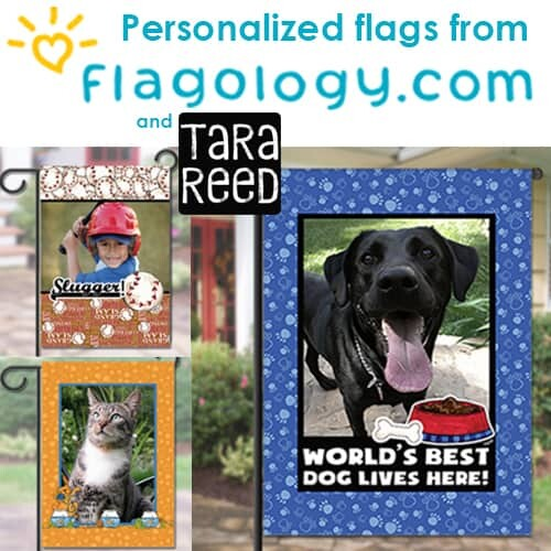 Save on Personalized Flags featuring the art of Tara Reed