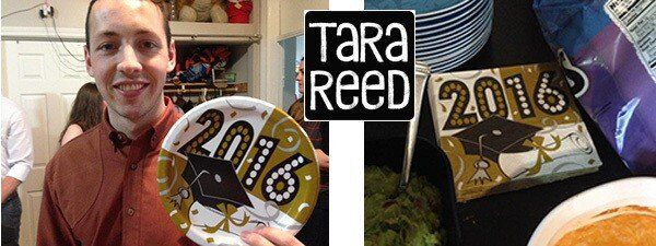 Kyle and Graduation Plate by Tara Reed Designs