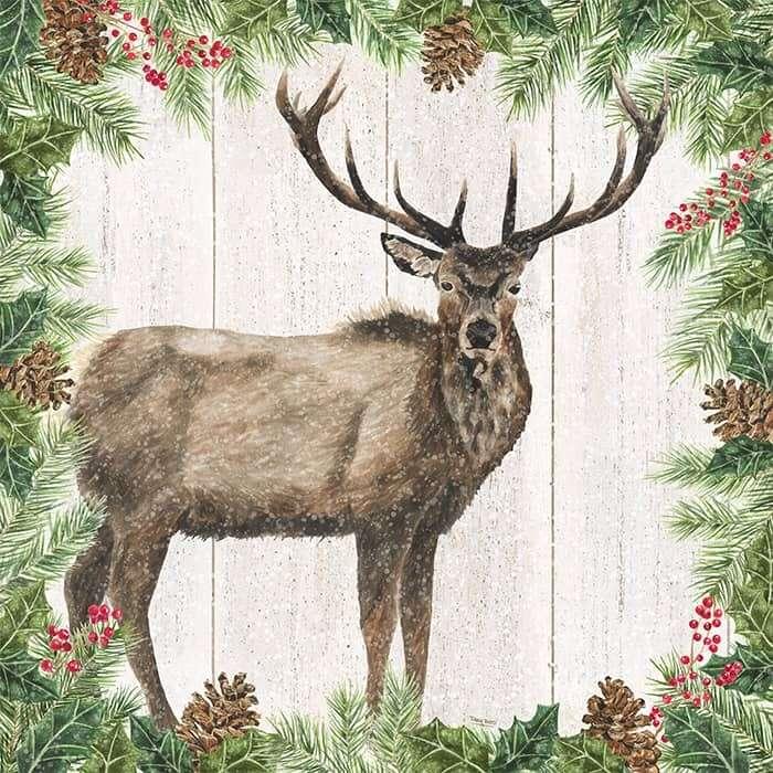 Christmas Elk watercolor by Tara Reed Designs