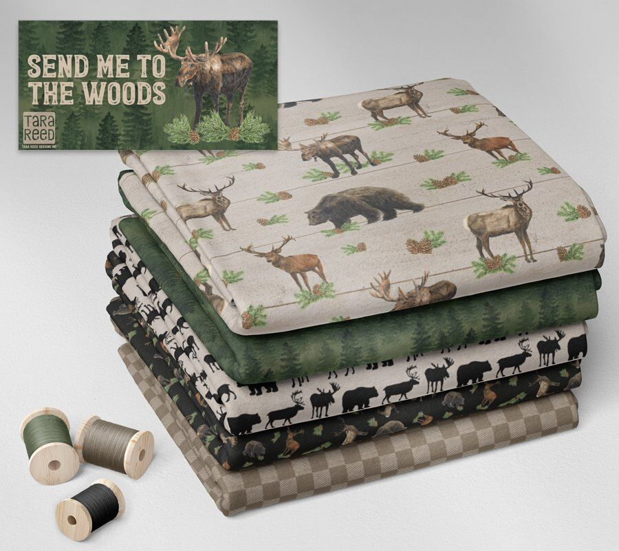 Send Me to the Woods - fabric sample stack - Tara Reed