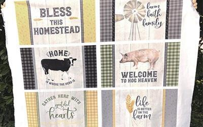 Homestead Life Fabric Placemat panel
