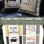homestead life pillows and placemat fabric panel