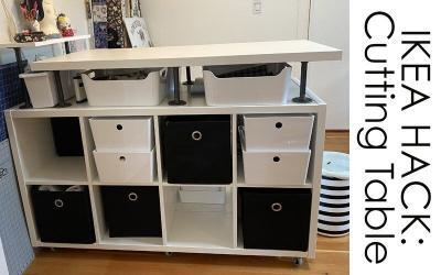 IKEA HACK – DIY Sewing Room Cutting Table