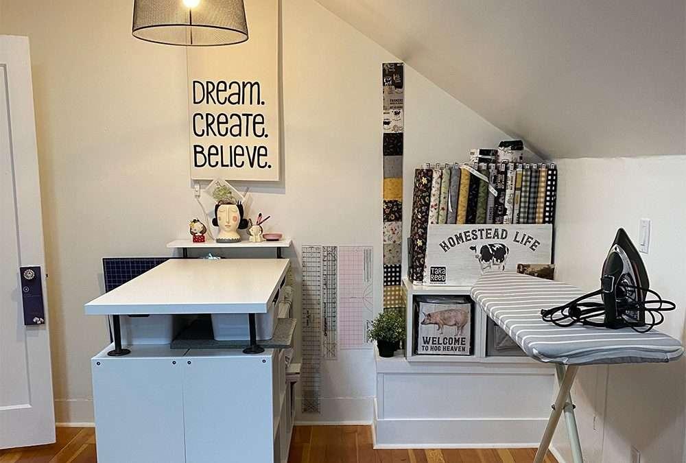 IKEA HACK – DIY Sewing Room Cutting Table