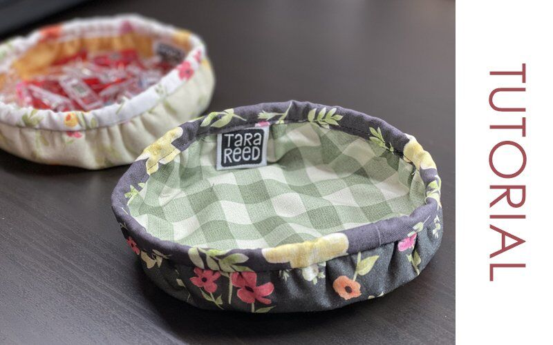 TUTORIAL – Cute Little Round Fabric Bowl