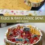 TUTORIAL - Cute Little Round Fabric Bowl