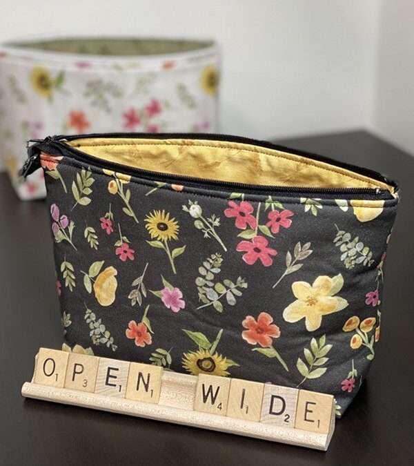 Open Wide Zipper Bags