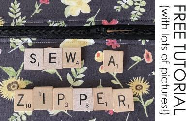 TUTORIAL: How to Sew a Zipper