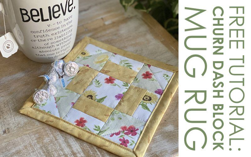 QUILT BLOCK TUTORIAL: Churn Dash