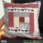 QUILT BLOCK TUTORIAL: Log Cabin Block with fabric by Tara Reed