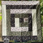 Log Cabin Quilt with fabric by Tara Reed