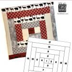 QUILT BLOCK TUTORIAL: Log Cabin Block