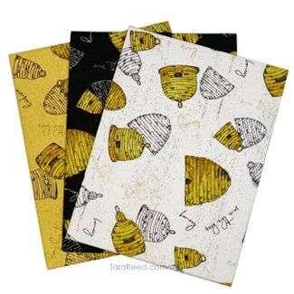 Bees Life Beehives Fabric by Tara Reed