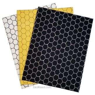 Bees Life Honeycomb Fabric by Tara Reed