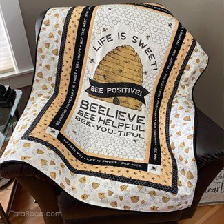 Bee's Life Panel Quilt by Tara Reed