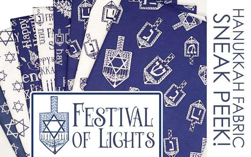 Festival of Lights Hanukkah Fabric by Tara Reed for Riley Blake