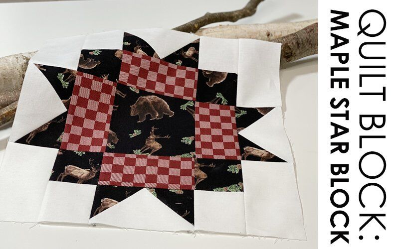 FREE QUILT BLOCK TUTORIAL: Maple Star