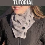 FREE SEWING TUTORIAL: Button Up Neck Wrap