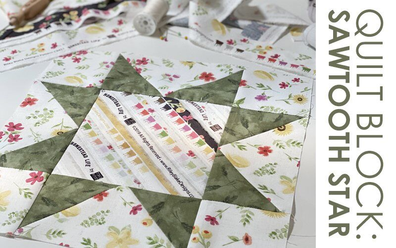 FREE QUILT BLOCK TUTORIAL: Sawtooth Star