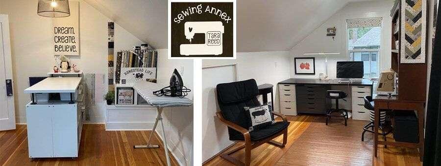 Tara Reed's studio - sewing annex