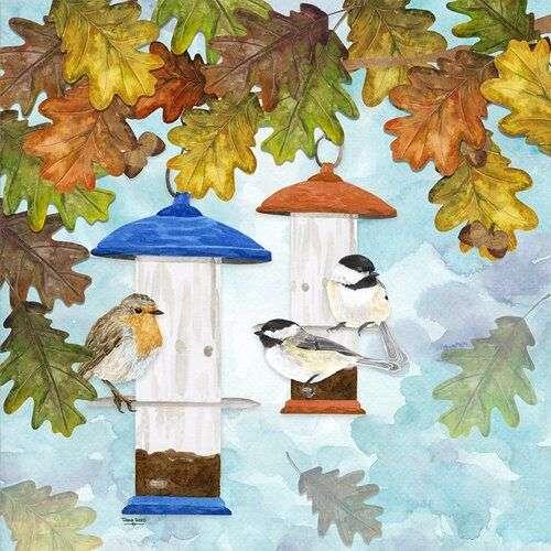 fall bird art by Tara Reed