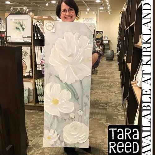 Floral canvas - art by Tara Reed