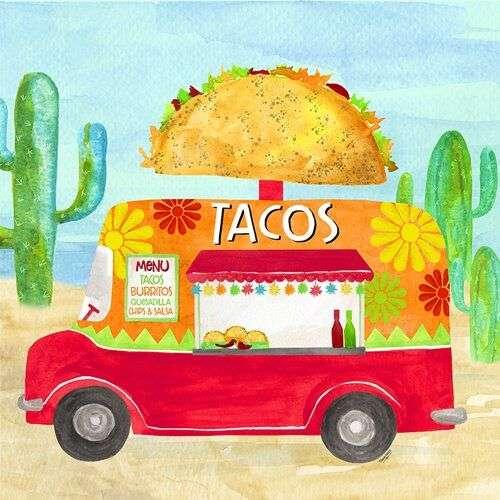 taco truck art by Tara Reed