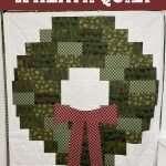 Christmas Wreath Throw Quilt tutorial