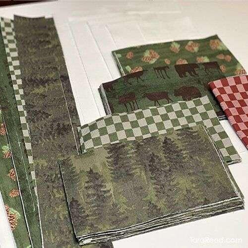 Christmas Wreath - fabric cut