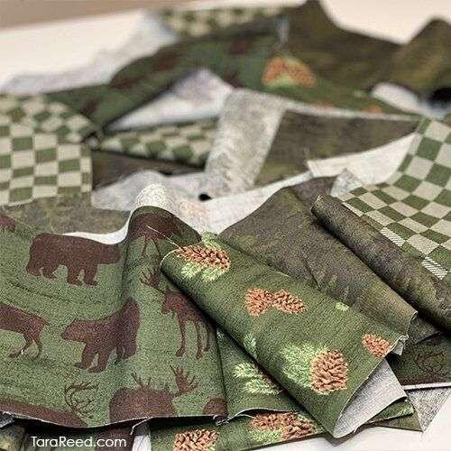 Christmas Wreath - fabric strips