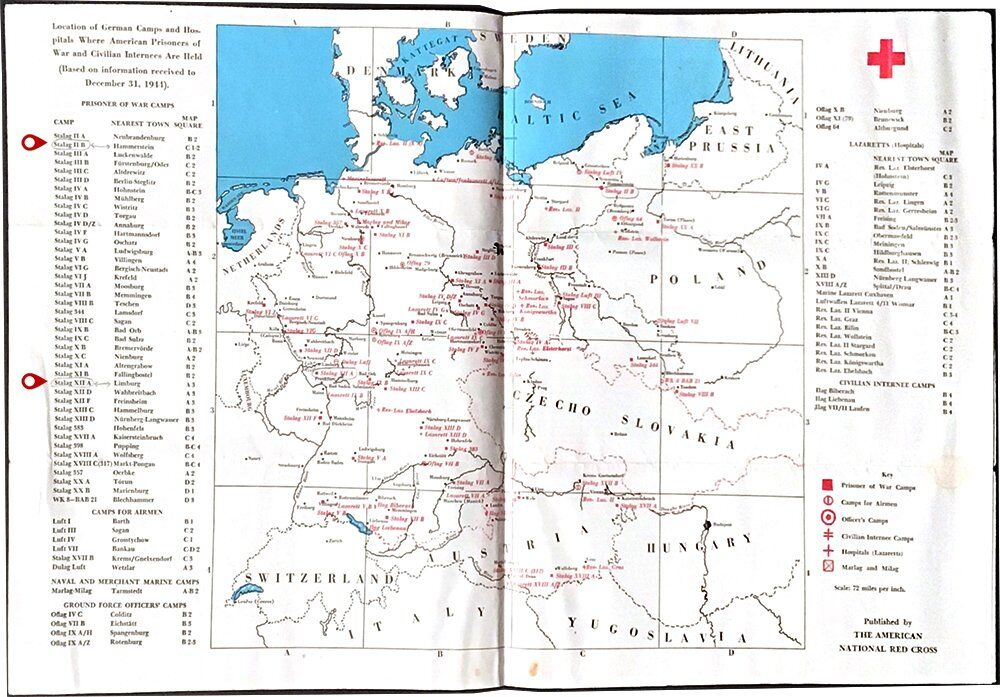 Frank Palecko - Red Cross Map - WWII
