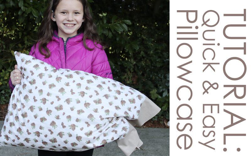 How to make a Pillowcase - Quick & Easy Burrito Method