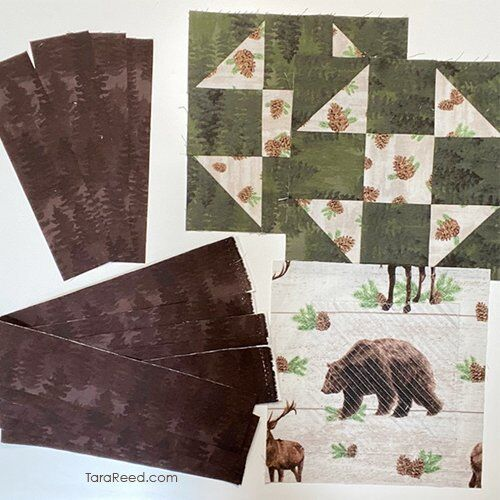 quilt block table runner - materials needed