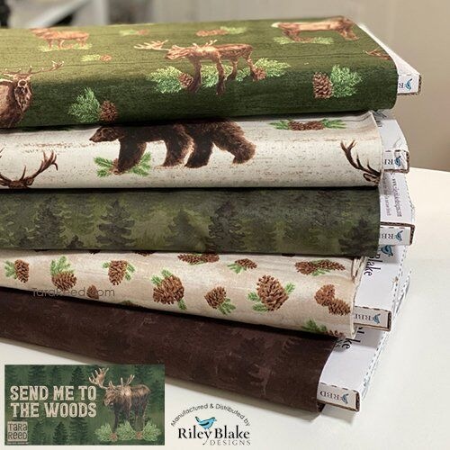 Send Me to the Woods Fabric by Tara Reed