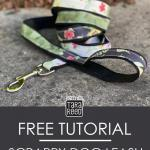 Free Tutorial - DIY Dog Leash using Fabric Scraps