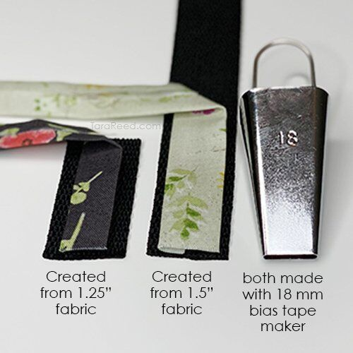 bias tape maker fabric size