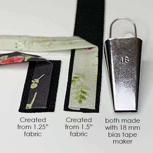 bias tape maker fabric size