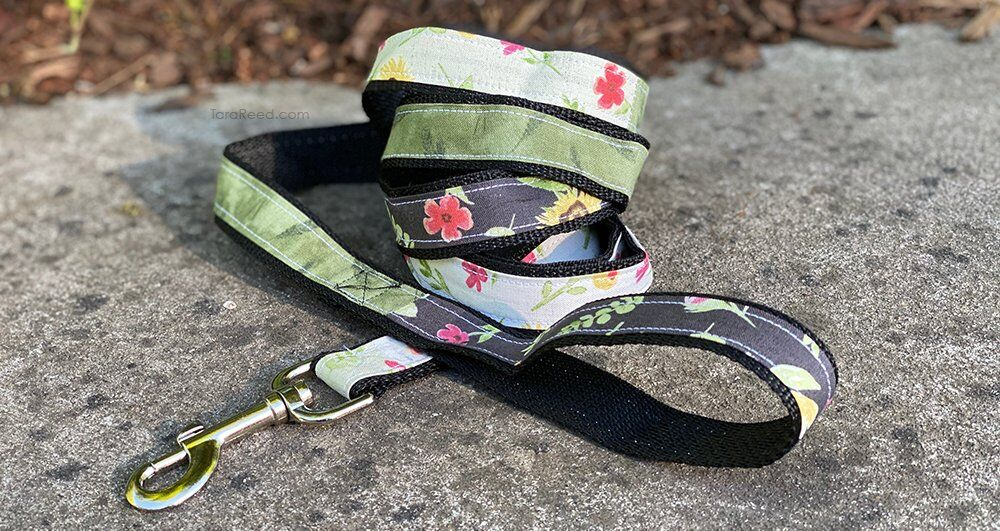 DIY Dog Leash using Fabric Scraps and Nylon Webbing