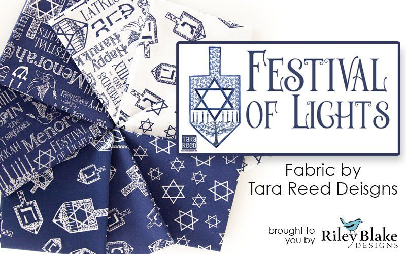 Festival of Lights Hanukkah Fabric by Tara Reed for Riley Blake Designs
