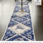 Quick and Easy Hanukkah Table Runner from a Fabric Panel