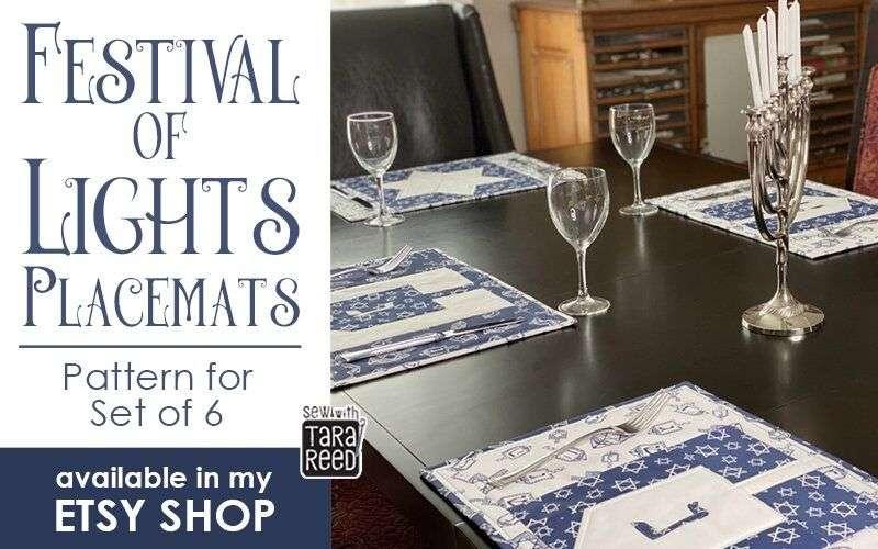 Hanukkah Placemats Pattern - Etsy Shop Link