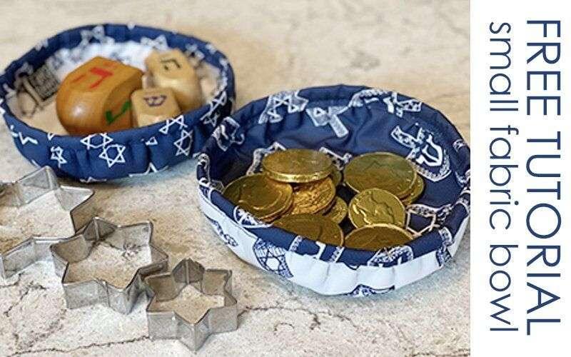 FREE TUTORIAL: Hanukkah Mini Fabric Bowls