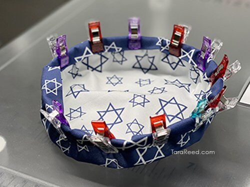 FREE TUTORIAL: Hanukkah mini fabric bowls