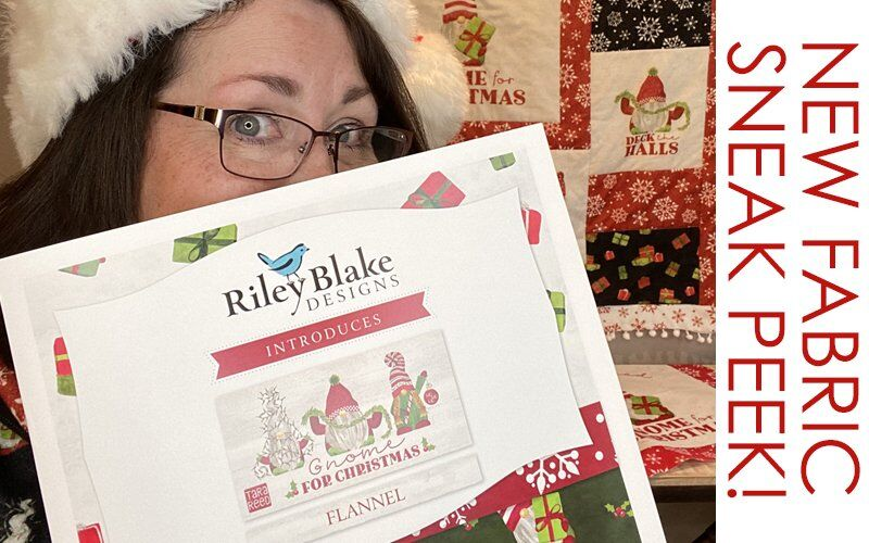 Gnome for Christmas Fabric Collection – Sneak Peek!