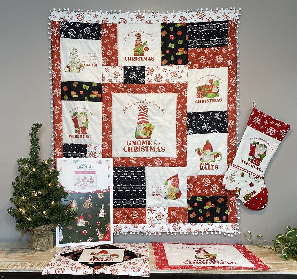 Gnome Christmas Flannel Fabric - Sneak Peek from Tara Reed