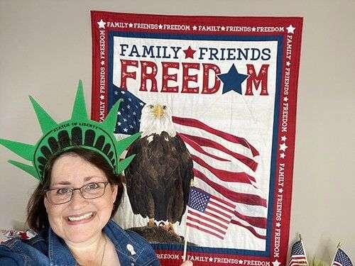 Let Freedom Soar - Patriotic Fabric Sneak Peek from Tara Reed