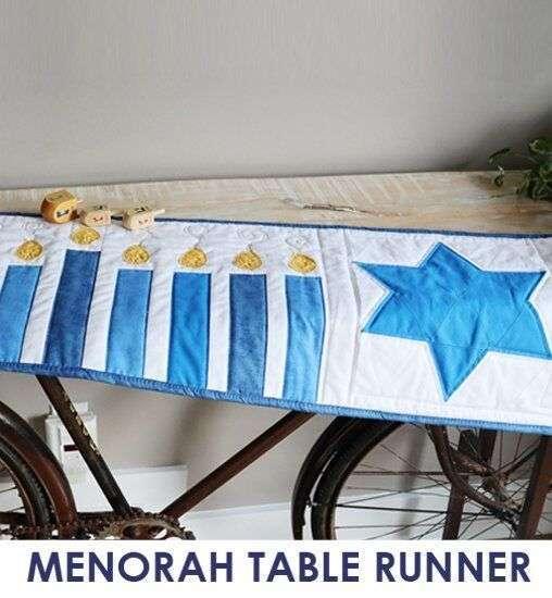 Sew for Hanukkah - slideshow - table runner